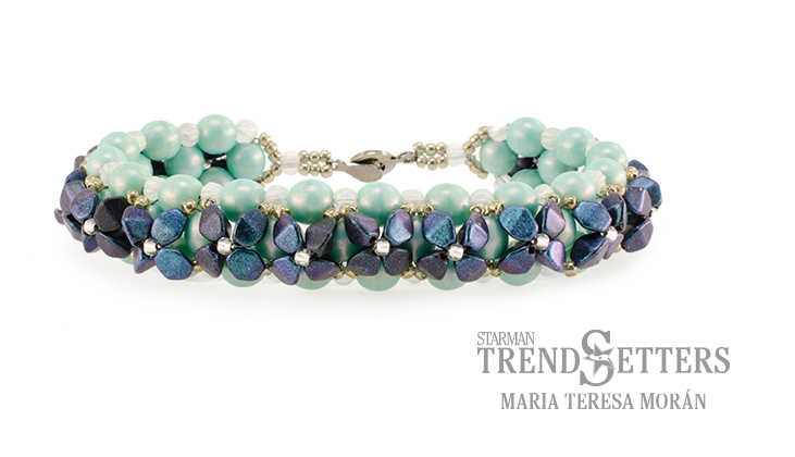 Sweet Alyssum Bracelet TrendSetters Holiday Workshop 2017