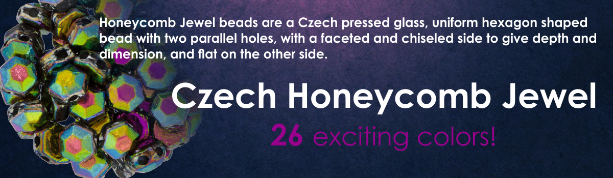 Czech Honeycomb Jewel Bead!