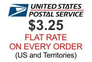 $3.25 US Flat Rate on every order!