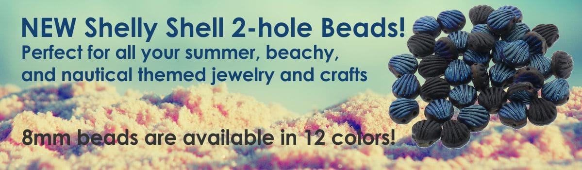 NEW Shelly Shell 2-hole Beads!